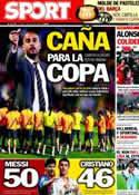 Portada diario Sport del 14 de Mayo de 2012