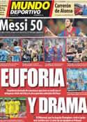 Portada Mundo Deportivo del 14 de Mayo de 2012