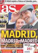Portada diario AS del 15 de Mayo de 2012