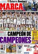 Portada diario Marca del 15 de Mayo de 2012