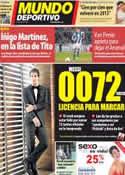Portada Mundo Deportivo del 15 de Mayo de 2012