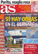 Portada diario AS del 16 de Mayo de 2012