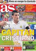 Portada diario AS del 17 de Mayo de 2012