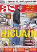 Portada diario AS del 18 de Mayo de 2012