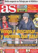Portada diario AS del 19 de Mayo de 2012