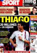 Portada diario Sport del 19 de Mayo de 2012