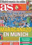 Portada diario AS del 20 de Mayo de 2012
