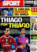 Portada diario Sport del 20 de Mayo de 2012