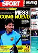 Portada diario Sport del 21 de Mayo de 2012