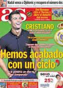 Portada diario AS del 22 de Mayo de 2012