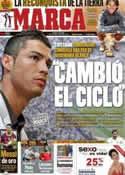 Portada diario Marca del 22 de Mayo de 2012
