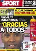 Portada diario Sport del 22 de Mayo de 2012