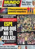 Portada Mundo Deportivo del 23 de Mayo de 2012