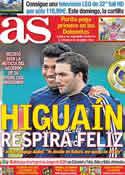 Portada diario AS del 24 de Mayo de 2012