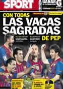 Portada diario Sport del 24 de Mayo de 2012