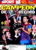 Portada diario Sport del 26 de Mayo de 2012