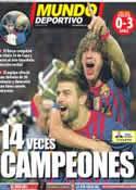 Portada Mundo Deportivo del 26 de Mayo de 2012