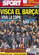 Portada diario Sport del 27 de Mayo de 2012