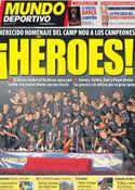 Portada Mundo Deportivo del 27 de Mayo de 2012