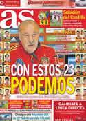 Portada diario AS del 28 de Mayo de 2012