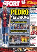 Portada diario Sport del 28 de Mayo de 2012