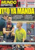 Portada Mundo Deportivo del 28 de Mayo de 2012