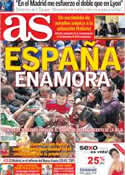 Portada diario AS del 29 de Mayo de 2012