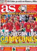 Portada diario AS del 31 de Mayo de 2012
