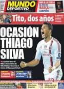 Portada Mundo Deportivo del 31 de Mayo de 2012