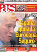 Portada diario AS del 1 de Junio de 2012