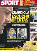 Portada diario Sport del 1 de Junio de 2012