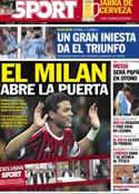 Portada diario Sport del 4 de Junio de 2012