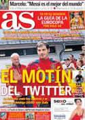 Portada diario AS del 5 de Junio de 2012