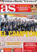 Portada diario AS del 6 de Junio de 2012