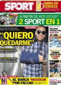 Portada diario Sport del 6 de Junio de 2012