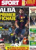 Portada diario Sport del 7 de Junio de 2012