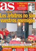 Portada diario AS del 8 de Junio de 2012