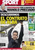 Portada diario Sport del 8 de Junio de 2012