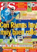 Portada diario AS del 9 de Junio de 2012