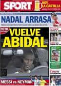 Portada diario Sport del 9 de Junio de 2012