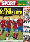 Portada diario Sport del 10 de Junio de 2012