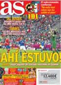 Portada diario AS del 11 de Junio de 2012