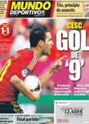 Portada Mundo Deportivo del 11 de Junio de 2012