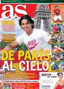 Portada diario AS del 12 de Junio de 2012