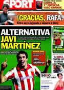 Portada diario Sport del 12 de Junio de 2012