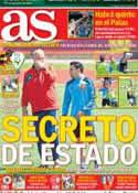 Portada diario AS del 14 de Junio de 2012