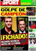 Portada diario Sport del 14 de Junio de 2012
