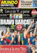 Portada Mundo Deportivo del 14 de Junio de 2012