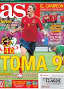 Portada diario AS del 15 de Junio de 2012