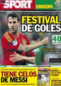 Portada diario Sport del 15 de Junio de 2012
